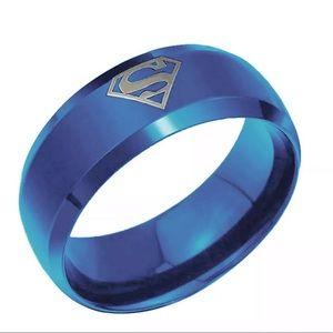 Jewelry - Superman logo 8MM stainless steel titanium